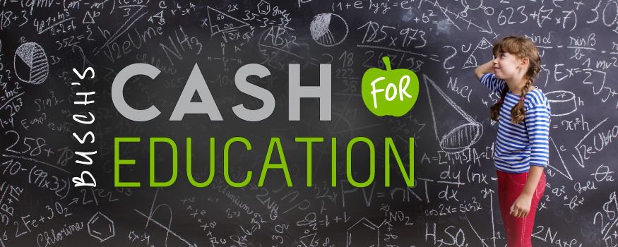 Image result for busch's cash for education